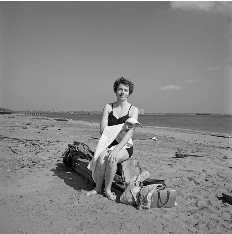 Self-portrait on a beach in New York's Staten Island, 1954- Vivian Maier, The Self-portrait and its Double