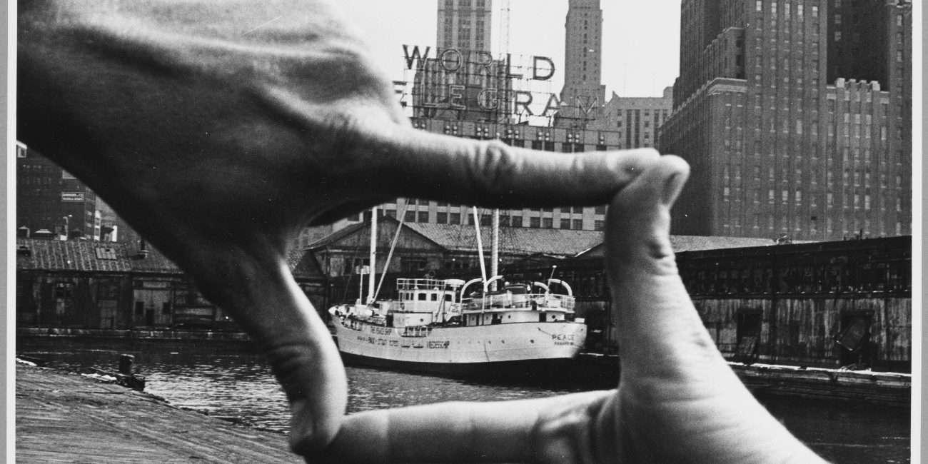 Shunk-Kender_John Baldessari, Pier 18, NYC, 1971